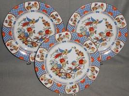 Set (3) China Garden ASIAN DESIGN Fine Porcelain DINNER PLATES Made in J... - $39.59