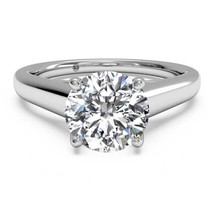 4 Ct Round Brilliant Lab Diamond Wedding Engagement Ring 14 Kt Solid Whi... - $3,168.89