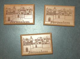 Israel Olive Wood Small Magnet Judaica Messianic Menorah Jerusalem Peace Dove
