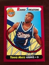 1991-92 Fleer - Travis Mays - Rookie Sensations #5 - $0.99