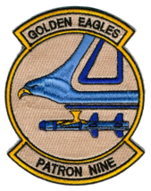 US NAVY VP-9 Patrol Squadron 9 Insignia of Patrol Golden Eagle Patch - $11.87