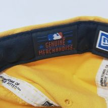 New Era 59Fifty San Diego Padres 7 5/8 Fitted USA Wool Hat Gold & Brown image 9