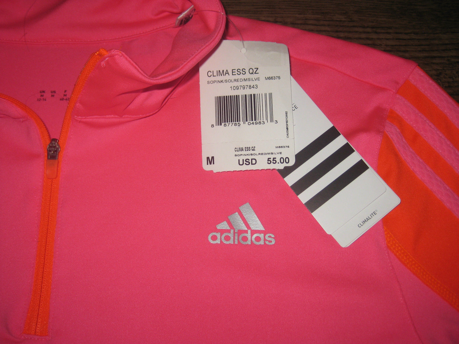 Womens Adidas Running Long Sleeve 14 Zip and 50 similar items