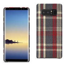 Reiko Samsung Galaxy Note 8 Checked Fabric Case In Red - $9.80
