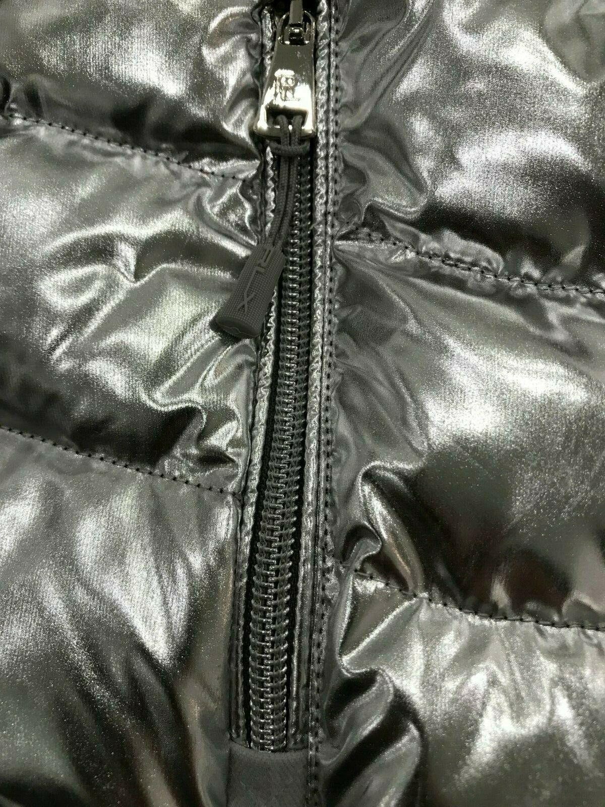 Ralph Lauren Purple Label RLX Foil Metallic Silver Down Puffer Jacket $995 Large