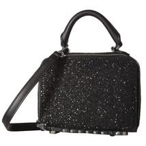 Rebecca Minkoff Black Glitter Studded Leather Box Crossbody Bag NWT - $128.21