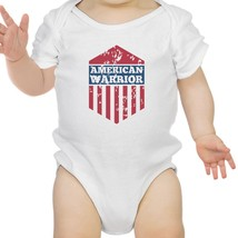 American Warrior White Baby Bodysuit Snap On Cute Baby Shower Gifts - $14.99
