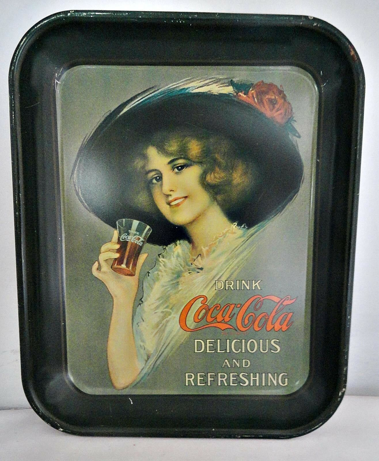 Primary image for Coca Cola Tray Metal 1970s Reproduction Collectible