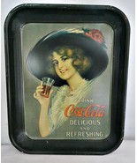 Coca Cola Tray Metal 1970s Reproduction Collectible - $10.88