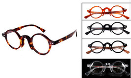 Unisex Small Round Vintage Eyewears Multicolors Glasses Rx-able Eyeglass... - $24.83