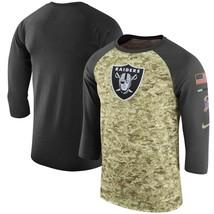 Oakland Raiders Mens Nike Salute to Service 3/4 Sleeve DRI-FIT T-Shirt -... - $28.95