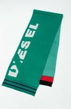 Diesel Unisex K-Type 00S9F0 Fine Knitting Scarf Green - $80.19
