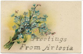 """Antique Collcetable Postcard """"Greetings from Artesia"""" Paul Finkenrath Be... - $7.25"""