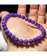 Natural CHAROITE Stone Crystal Round Beads Bracelet AAAA J021402 - $20.64