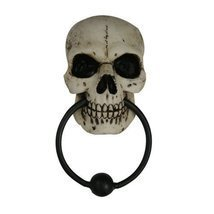 PTC Pacific Giftware Halloween Skeleton Skull Door Knocker Statue Figuri... - $440,60 MXN