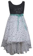 Bonnie Jean Little Girl 2T-6X Black/white High Low Wire Hem Social Dress