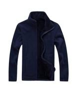 Men's Autumn and Winter Plus Velvet Catching Sweater Cardigan Coat - $36.71