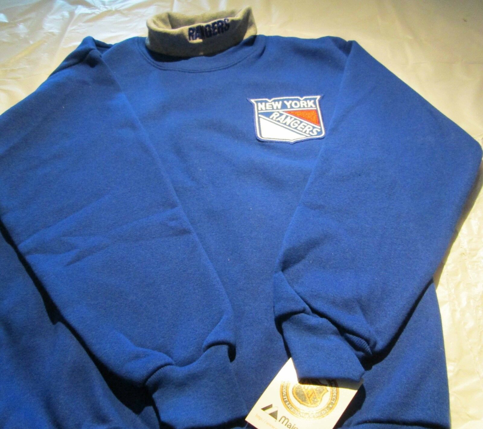Primary image for New York Rangers Youth Sweat Shirt XL Turtleneck NHL Majestic 50/50 Vintage
