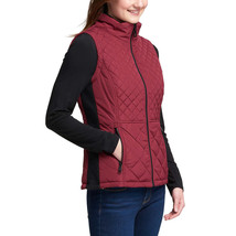 NEW Andrew Marc Women's Beet Red Quilted Insulated Zip Up Vest image 2