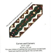 Curves and Corners Quilted RUNNERS Pieced Designs To Share With You Sew Pattern - $11.99