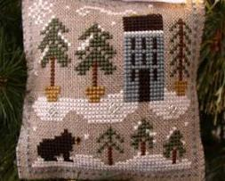 Snowy Pines Ornament 2010 Series #4 cross stitch chart Little House Needleworks