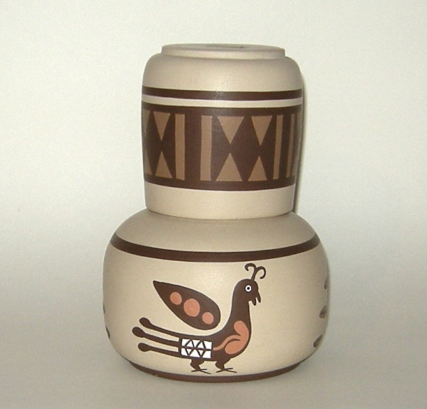 American Indian Mimbres Pottery Pitcher and Cup New