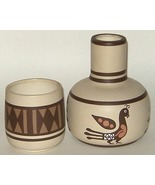 American Indian Mimbres Pottery Pitcher and Cup New - $12.00