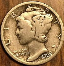 1923 UNITED STATES 10 CENTS MERCURY DIME COIN - $5.29