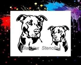 American Pitbull Set 01 Airbrush Stencil,Template, Stencil - $10.99