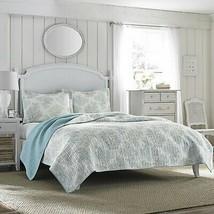 Laura Ashley Reversible Quilt Set, Full/Queen, Saltwater Blue - $169.96+