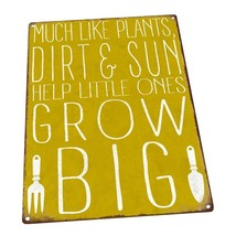 Little Ones Grow Big Metal Sign; Wall Decor for Porch, Patio, or Deck - $51.47+