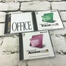 Microsoft Windows Software Lot Of 3 Office Excel 2000 Access 2000 - $19.79
