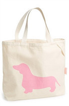 "Romy & Jacob ""Dachshund"" Organic Designer Tote Bag Available in Color Pink - $19.95"