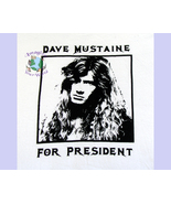 S M L XL Dave Mustaine For President T-Shirt basic tee 50/50 white yello... - $13.99