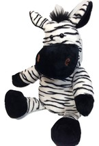 RARE Manhattan Toy ZEBRA Plush Hand Puppet Black White Soft Stuffed Anim... - $65.00