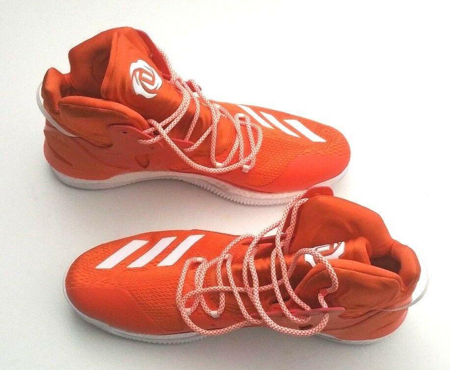 Adidas Men B38925 D Rose 7 Boost Primeknit Basketball Shoe Orange/White Size 16 image 6