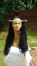 AFRICAN BOX BRAID Celebrity 24 inch human blend micro braid twist lace front wig - $141.55