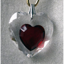 18mm Enhanced Crystal Flat Heart Hair Jewel image 6