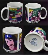 Vintage 80s Applause Watch Out For Love For Sale Pop Art Mug - $32.62