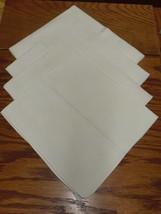 4 FLOWERED WHITE COTTON BLEND NAPKINS - $5.99