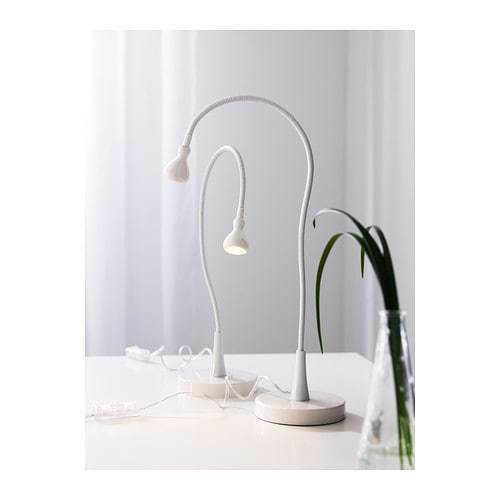 IKEA, JANSJÖ,  Super-flexible Work Lamp Built-in LED Light, in Various Colors