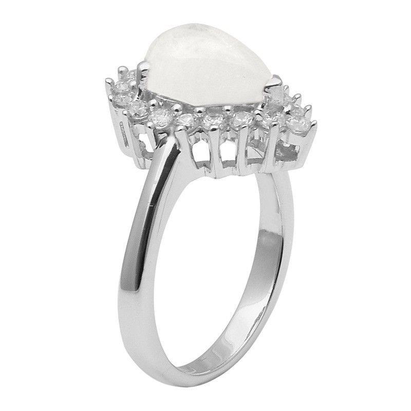 Rainbow Moonstone 925 Sterling Silver Ring Shine Jewelry Size-8.5 SHRI1430
