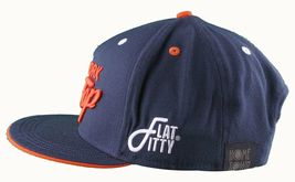Flat Fitty New York Su Top Navy Arancione Wiz Khalifa Cappellino Baseball Nwt image 4