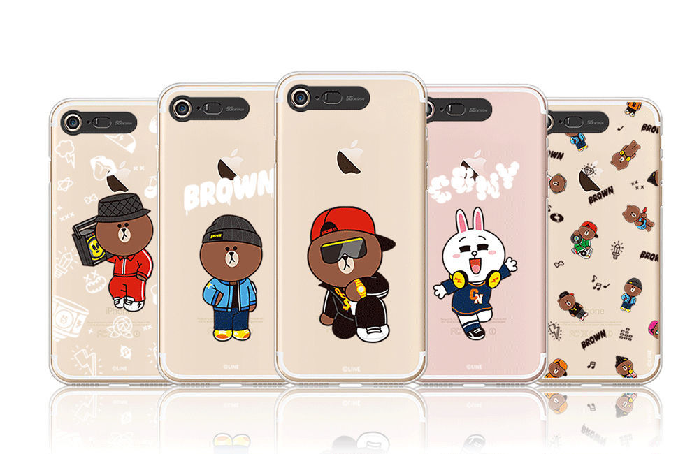 LINE Friends Beat BROWN Lighting Case V.1 iPhone 7/7 Plus Cover Mobile Skin Acc