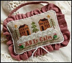 All Is Calm Ornament 2010 Series #11 cross stitch chart Little House Nee... - $5.40