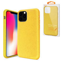 Reiko APPLE IPHONE 11 PRO Wheat Bran Material Silicone Phone Case In Yellow - $9.38