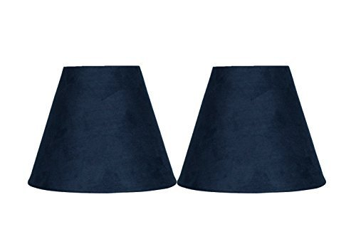Urbanest Set of 2 3-inch by 6-inch by 5-inch Suede Clip-on Chandelier Shades, Na