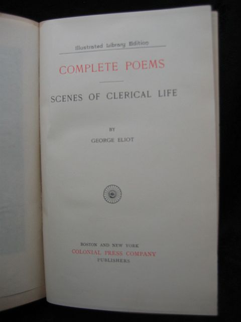 Complete Poems Scenes of Clerical Life by George Eliot