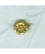 Gold Colored Metal Floral 2 Strand Clasp 16 MM - $4.00