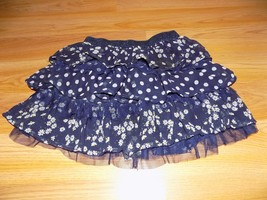 Size 8 The Children's Place Navy White Polka Dot Daisy Floral Tiered Min... - $10.00